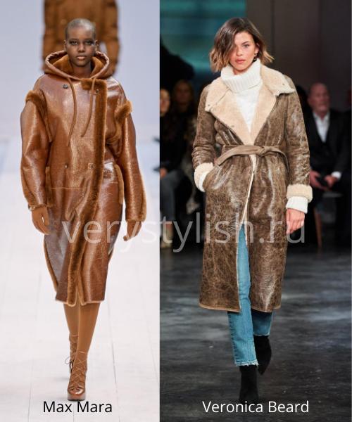 Модные дублёнки осень-зима 2020/21. Фото № 9