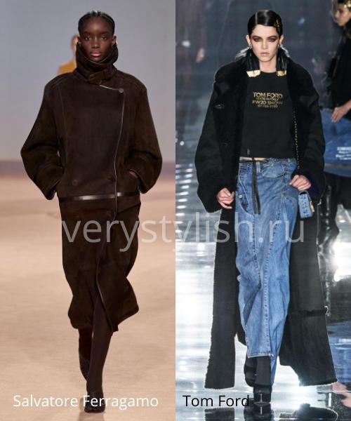 Модные дублёнки осень-зима 2020/21. Фото № 7