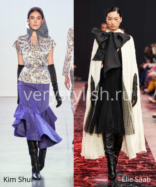 Модный тренд осени 2020 - высокие перчатки. Фото № 4