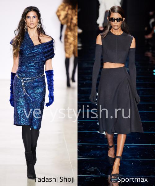 Модный тренд осени 2020 - высокие перчатки. Фото № 14