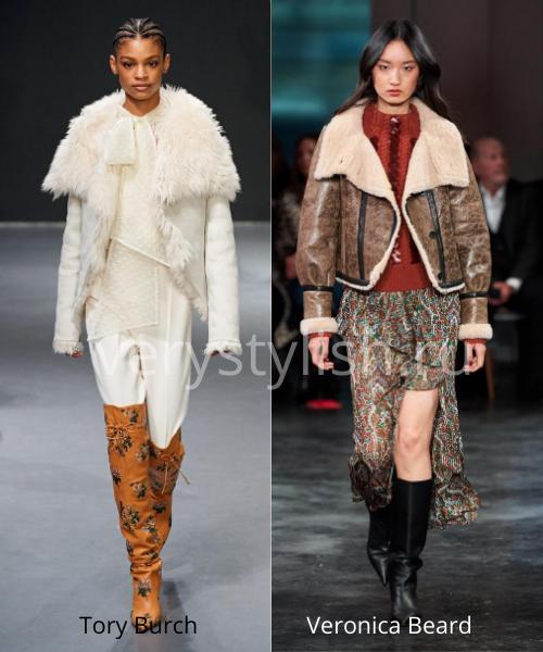 Модные дублёнки осень-зима 2020/21. Фото № 1